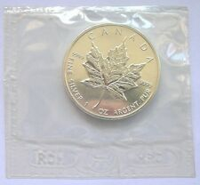 Canada 1999 Maple Leaf 5 Dollars 1oz Silver Coin,UNC