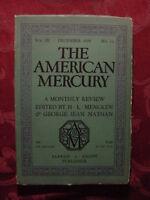American MERCURY December 1924 EDGAR LEE MASTERS JOHN MCCLURE