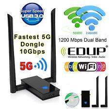 1200 Mbps de doble banda 802.11ac 2.4/5GHz USB 3.0 adaptador de red LAN Dongle Wifi Reino Unido