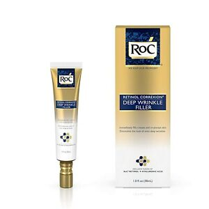 (2) ROC Retinol Correxion Deep Wrinkle Filler Moisturizer Hyaluronic Acid 1.0 oz