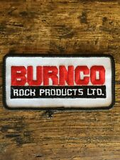 "Vtg Burnco Rock Products 4"" Sew On Patch Calgary AB Canada Badge Constructi"