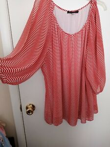 Ladies plus size striped top by ROSE & OLIVE size 2X