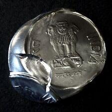 INDIA Rs.2/- COIN MULTIPLE STRIKE, BROAD FLAN,BROCKAGE  & DIE CAP ERROR