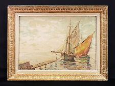 ECOLE RUSSE Huile sur toile Signée en bas à gauche MARINE SEASCAPE VOILIERS
