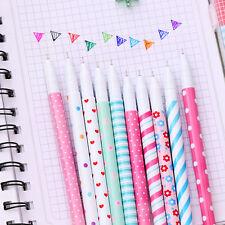 10PC 0.38mm Cute Kawaii Fun 10pcs Colorful Gel Ink Pens Roller Needle Pen Fine