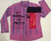 "Punk ANARCHIST SHIRT KARL MARX Only Anarchists are Pretty Vintage 2XL44"" Col 20"""