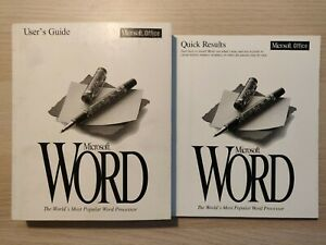 1993 MICROSOFTWORD 6.0 User Manual & Quick Results (2 Books - Collector's Item)