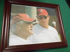 RARE Collectible Photo- ALABAMA Crimson Tide Coach Mike Shula with Dad Don Shula