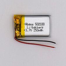 3.7 V Lipolymer Rechargeable battery Li-po Liion 250mAh 502030 for GPS MP3 MP4
