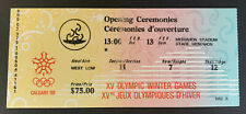 1988 Calgary Olympic Winter Games Opening Ceremony Ticket