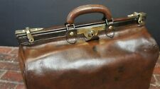 Antique Leather Lined Gladstone Bag by Drew & Sons Piccadilly Circus London