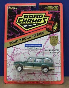 Road Champs 6420 1:43 1990s Gen 1 Ford Explorer XLT MOC  Green 1994