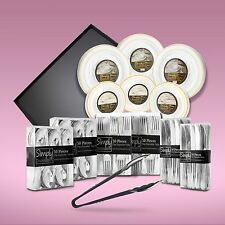 430 Piece Disposable Dinner Set With Gold Rims For 60 People