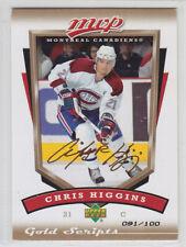 2006-07 UD MVP CHRIS HIGGINS GOLD SCRIPTS /100 PARALLEL #153 Upper Deck Canadien