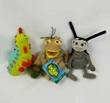 Vintage Walt Disney Store A Bugs Life Plush Set Lot Heimlick P.T Flea Francis