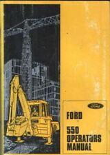 FORD DIGGER BACKHOE LOADER 550 OPERATORS MANUAL
