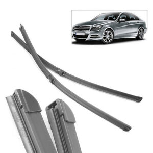 """For Mercedes E Class W211 S211 2002-2009 26""""+26"""" Front Windshield Wiper Blades"""