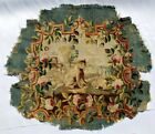 A Great Antique Armchair Tapestry Cover with Animals