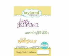 Taylored Expressions Rubber Stamp Set ~ SIMPLY SAID - HALLOWEEN   ~TEALC119