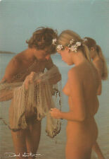 Ak David Hamilton Akt Mann homme man Frau femme woman Blonde nu nudo am Meer sea