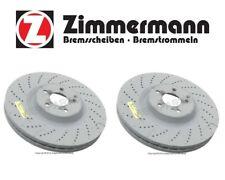 Mercedes W204 C63 AMG Pair Set of 2 Front Brake Discs Rotors Zimmermann Coat Z