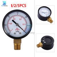 1/2/5PCS 0~-30inHg 0~-1bar Mini Vertical Vacuum Pressure Gauge Meter Manometer