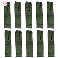 10pcs Hand Gun Sleeve Sock Sack Cover Case for Pistol Revolver Green 36cm/14''