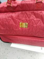 JM New York Collection Double Decker Duffle Bag Roller Suitcase -  Red