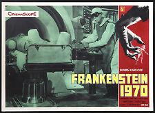 CINEMA-fotobusta FRANKENSTEIN 1970 b. karloff, H. KOCH