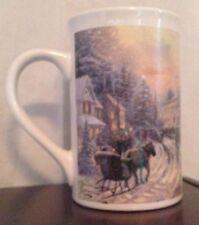 Thomas Kinkade 2007 Christmas Celebration Mug Cup Coffee Tea Tall White holiday