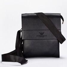 Venta caliente! famosa marca ARMANI Diseño Bolso de cuero de hombre casual de negocios de color negro