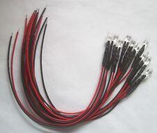 10 Stück LED 5mm 12V mit Vorwiderstand, 20cm Anschlusskabel Weiß