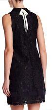 Nanette Lepore Self-tie Collar Lace Dress Black Sz 2