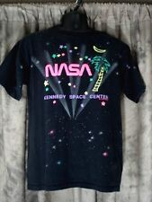 NASA Graphic T Shirt Kennedy Space Center Sz XL VTG1990 Black Multi-Color USA