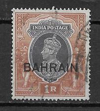 BAHRAIN , INDIA , 1938/41 , GEORGE VI , 1r STAMP , USED , CV$2.50