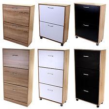2 3 Drawer Shoe Cabinet Cupboard Wooden Shoe Rack Stand Storage Unit  Footwear