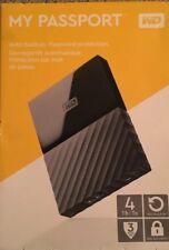 WD 4TB Black My Passport  Portable External Hard Drive - USB 3.0 - Free Shipping