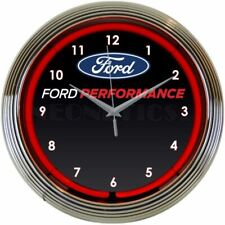 Ford Performance Neon Clock 8FRDPF w/ FREE Shipping