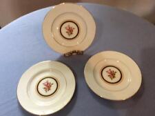 "Wedgwood Clio bone china THREE 6"" bread plates floral center ca. 1992"