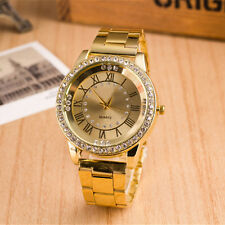 New Ladies Watch Stainless Steel Round Lovers' Rome Watch Diamond Watches