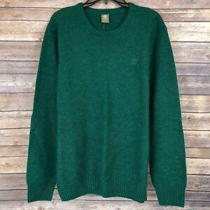 Timberland Men's Crew Neck Wool Blend Green Winter Sweater 6268J Size XL