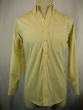 Mens Geoffrey Beene Cotton Blend LS Yellow Casual Shirt sz 15-32/33