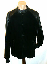 LOUIS VUITTON ~ Perforated Leather Black jacket ~ size: 56 ; L * AUTHENTIC LV