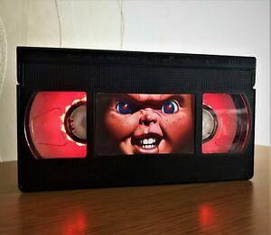 Chucky Childs Play Movie Retro VHS Night Light, Desk Lamp, Kids, TV, Horror