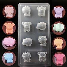 Hippo Lion Bear Shape Chocolate Cake Soap Fondant Mold Cookies Candy Bakeware