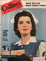 1943 Colliers May 15 - Nurses; Sikorsky helicopter; Victor Borge; Richelieu ship