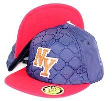 NEW YORK CITY LOGO, SNAPBACK HAT BASEBALL CAP, NEW YORK, NAVY, RED COLOR