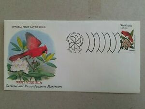 US 1982 STATE BIRDS & FLOWERS West Virginia FDC , Charleston Special Cancel