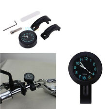 "1x Waterproof Motorcycle Cruiser Handlebar Mount Holder 7/8"" 1"" Clock Watch CAY"
