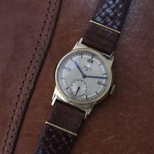 Vintage Elgin Manual Wind Watch Sector Dial Men's Wristwatch Original Runs